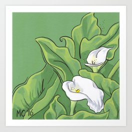 Calla Lily Valley Art Print