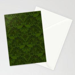 Stegosaurus Lace - Green Stationery Cards