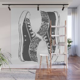 """Fashion Modern Design Print """"Sneakers""""! Hip hop gangster style Wall Mural"""