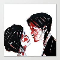 my chemical romance Canvas Prints featuring My Chemical Romance by andiechrist