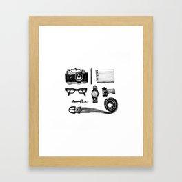 Tiny traveler Framed Art Print