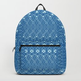 geometric layout in teal Backpack