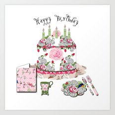 Happy Birthday Party Art Print