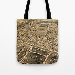 Vintage Pictorial Map of Durham NC (1891) Tote Bag