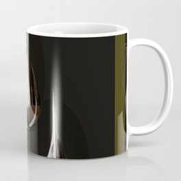 Silver Painting Drops On A Black Background in Golden Frames #decor #society6 Coffee Mug