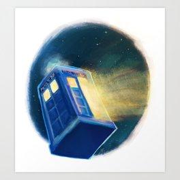 The TARDIS Art Print