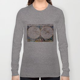 Vintage Map of The World (1700) Long Sleeve T-shirt