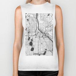 Minneapolis Map Gray Biker Tank