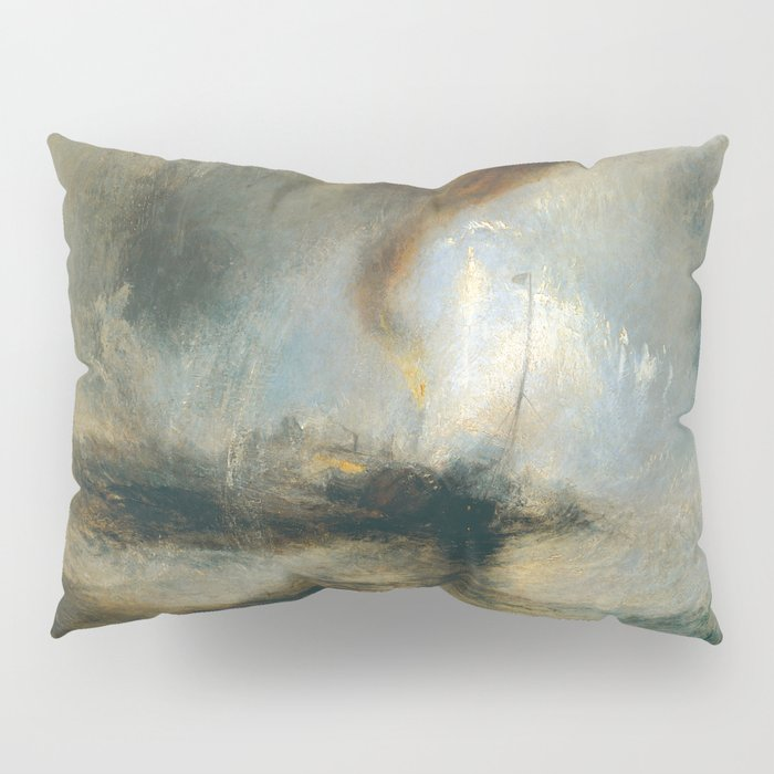 "J.M.W. Turner ""Snow Storm - Steam-Boat off a Harbour's Mouth"" Pillow Sham"