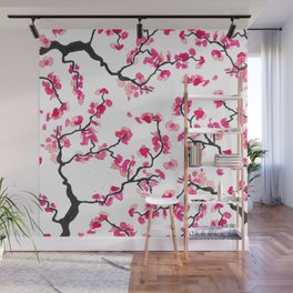 Japanese Cherry Blossoms Wall Mural