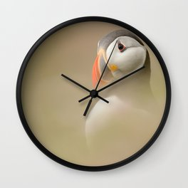 Portrait of Puffin Wall Clock
