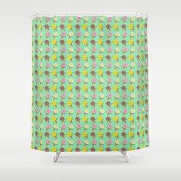 Roses Are Neapolitan Ice Cream Shower Curtain