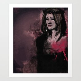 The rest of her was smoke Art Print