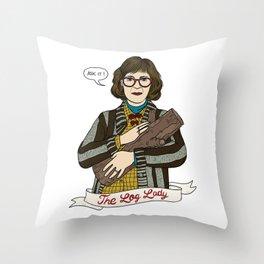 Twin Peaks (David Lynch) The Log Lady Throw Pillow