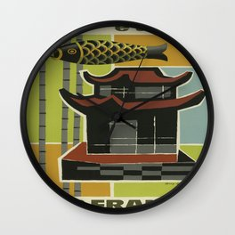 Vintage poster - Far East Wall Clock