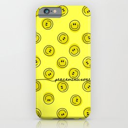 PMO Yellow Happiness iPhone Case
