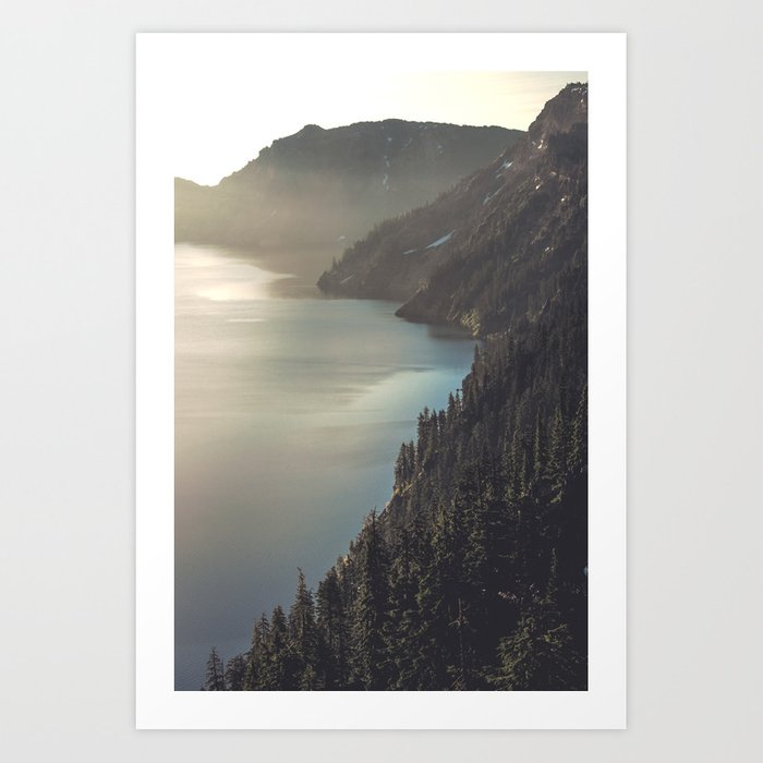 First Light at the Lake II Art Print
