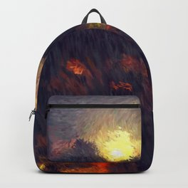 Full moon in the summer night sky Backpack