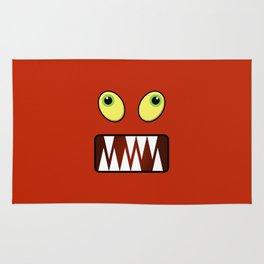 Funny monster face Rug