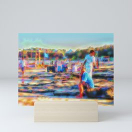 Summer fun at the beach Mini Art Print
