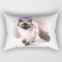 Watercolor Siamese Cat Rectangular Pillow