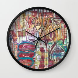 Cascading Ginkgo Wall Clock