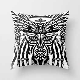 Afrodeity Throw Pillow