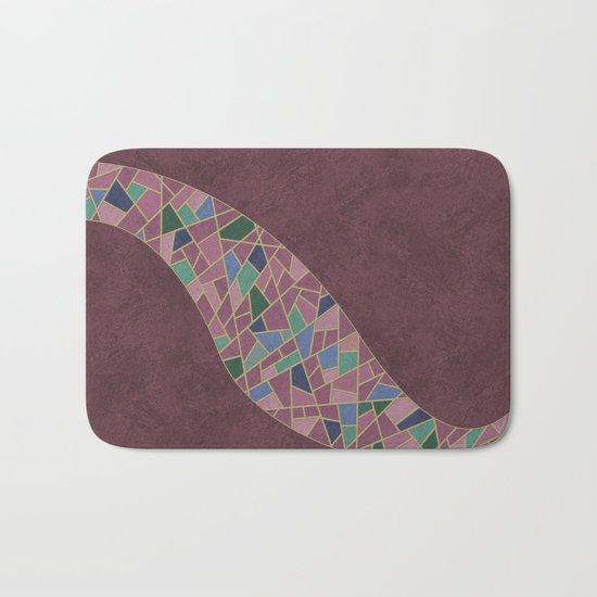 Geometric Marble 03 (abstract) Bath Mat