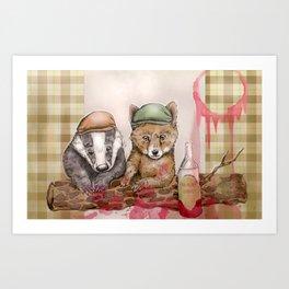 Raspberry Cordial  Art Print