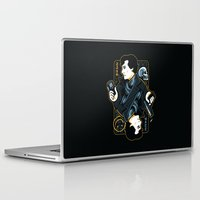 221b Laptop & iPad Skins featuring The Detective of 221B by WinterArtwork