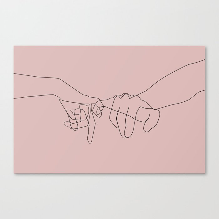 Blush Pinky Leinwanddruck