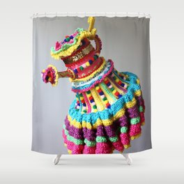 Watering Pompoms Shower Curtain