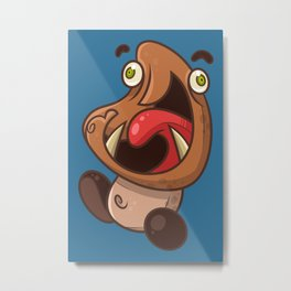 Excited Goomba Metal Print