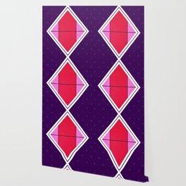 August - purple diamond Wallpaper