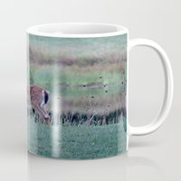 fawn Mugs featuring Fawn by Linda Wooderson