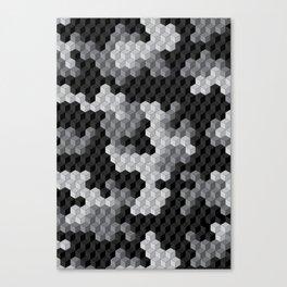 CUBOUFLAGE BLACK & WHITE Canvas Print