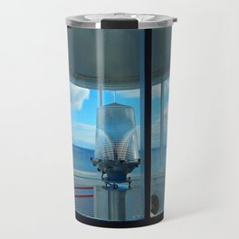 Lighthouse and Sea Beyond, seen from the Balcony Travel Mug