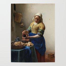 The milkmaid, Johannes Vermeer, ca. 1660 Poster