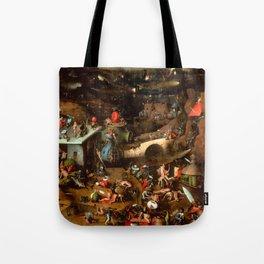 "Hieronymus Bosch ""The Last Judgement"" triptych (Vienna) central panel Tote Bag"