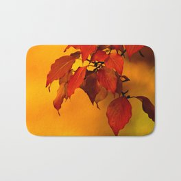 VIVID AUTUMNAL LEAVES Bath Mat