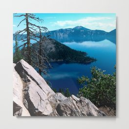Volcano Deep Blue Crater Lake Oregon USA Metal Print