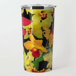 Orchids - Hot Colors! Travel Mug