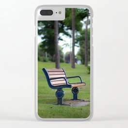 Remembrance bench Clear iPhone Case