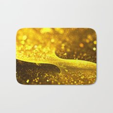 Yellow Glitter Wave Bath Mat