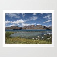 Pangong Tso Lake Art Print