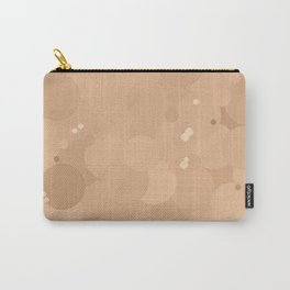 Toasted Almond Bubble Dot Color Accent Carry-All Pouch