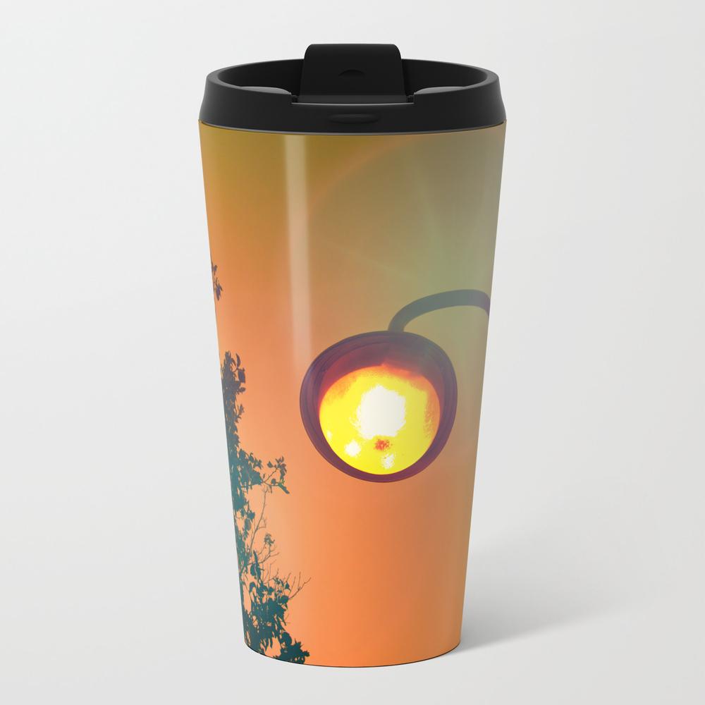 Oranges In My Eyes Metal Travel Mug by Aditmoss MTM8944139