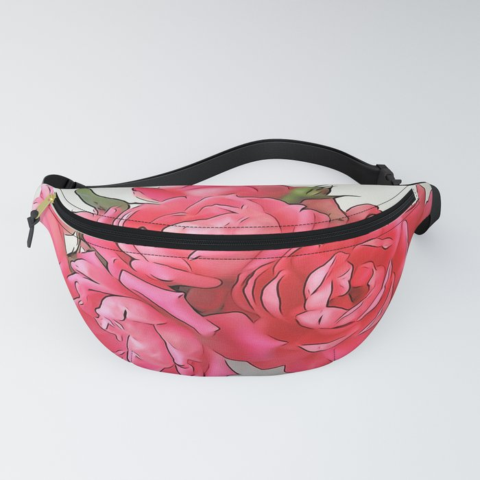 Pink Roses Bouquet PO Fanny Pack