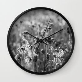 Dandelion Spring Showers Wall Clock