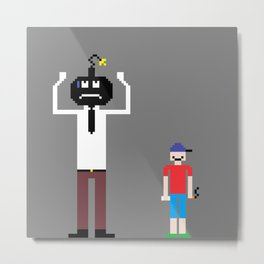 Bomber Man and Jack the Troublemaker Metal Print